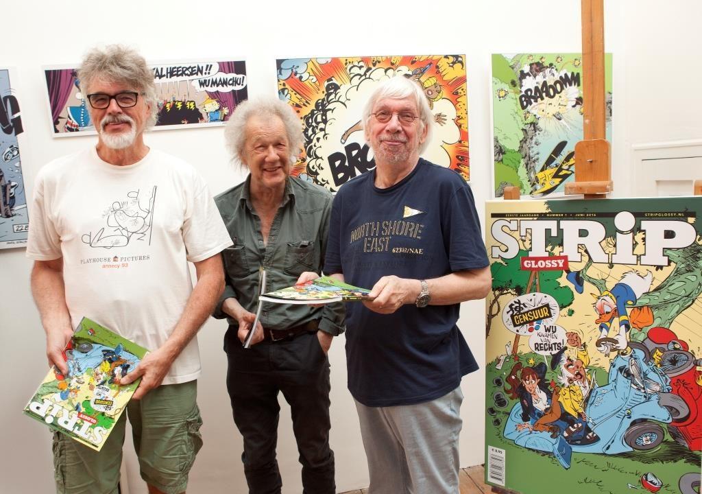 StripGlossy Daan Jippes, Dick Matena en Martin Lodewijk