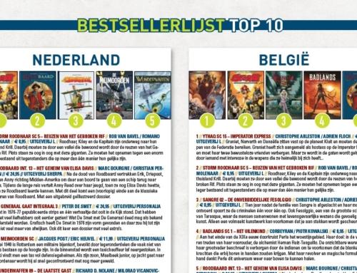 Bestsellerlijst Top 10 Strips NL + BE
